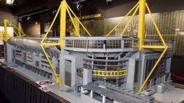 Borussia Dortmund fan builds replica lego stadium