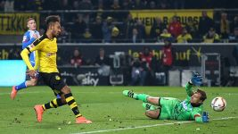 Pierre-Emerick Aubameyang's goals in 2015/16