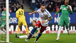 Lasogga at the double as Hamburg down Bremen in Nordderby
