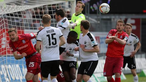 Frankfurt still in trouble after Sandhausen loss
