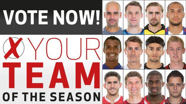 Team of the season 2015 16 have your say bundesliga com