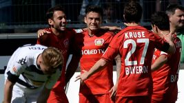 Leverkusen's Aranguiz opens Bundesliga account