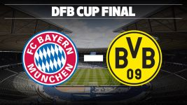 Infographic: Bayern vs Dortmund in DFB Cup final