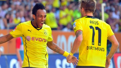 Auba's hat-trick heroics on Dortmund debut