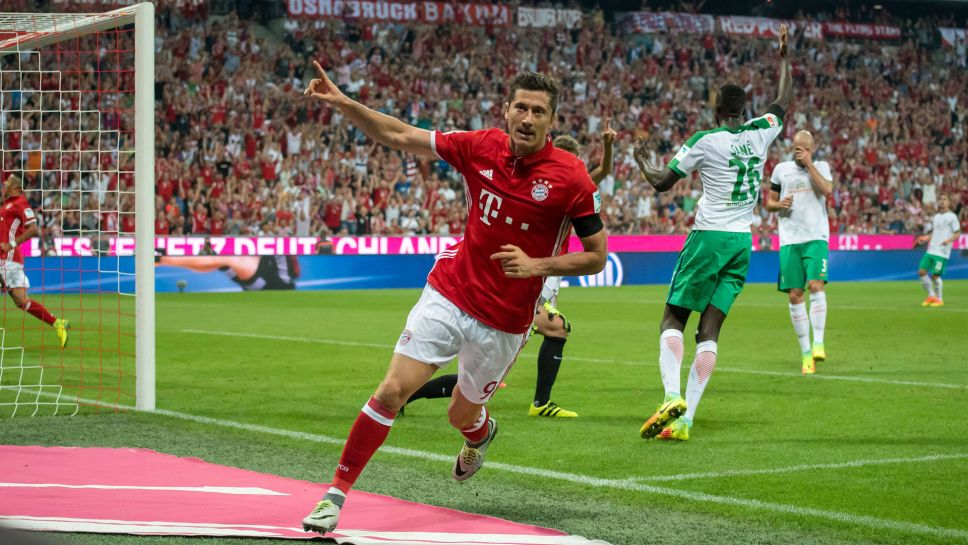 Image result for lewandowski gol bremen
