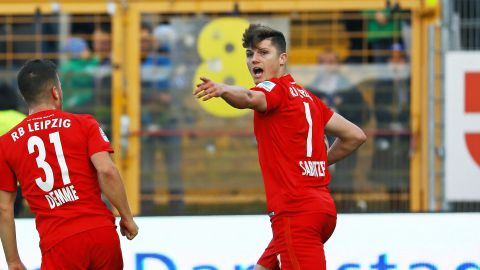 Sabitzer at the double as Leipzig down Darmstadt