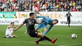 Watch: Lewandowski delight after Augsburg double