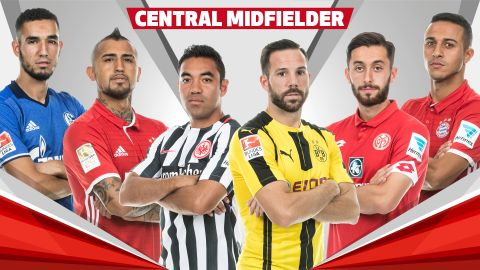 Team of the Hinrunde: central midfielders