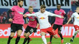 Dominant Leipzig ease past Hertha
