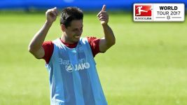 Chicharito: 'I'm happy in the Bundesliga'