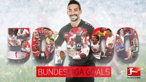 The 50,000th goal goes to Karim Bellarabi!