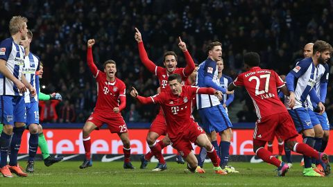 Watch: Hertha 1-1 Bayern - highlights