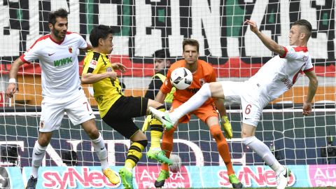 Watch: Augsburg 1-1 Dortmund - highlights