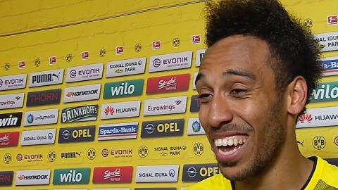 "Watch: Aubameyang: ""Winning 'Kanone' very special"""