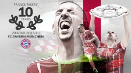 Franck Ribery: 10 years at Bayern