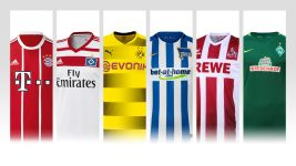 The new 2017/18 Bundesliga kits