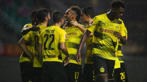 Aubameyang and BVB sink AC Milan: as it happened
