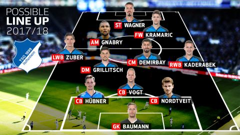 How might Hoffenheim line up in 2017/18?