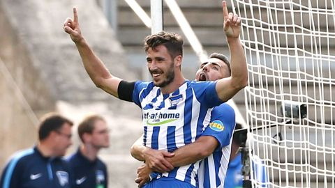 Hertha Berlin's Mathew Leckie can't stop scoring