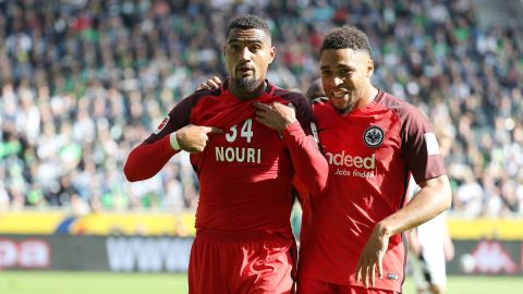 Boateng goal helps Frankfurt down Gladbach
