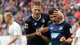 Volland at the double as Hoffenheim down Augsburg