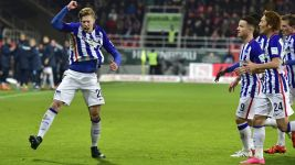 Hertha hold out for narrow win in Ingolstadt