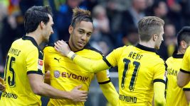 Aubameyang hits hat-trick as Dortmund down Augsburg