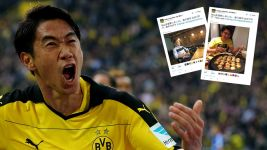 Shinji Kagawa on social media