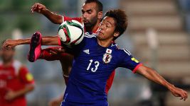Kiyotake fractures foot with Japan