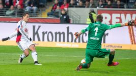 Chicharito strikes twice as Leverkusen beat Frankfurt