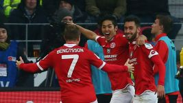Mainz hold on to defeat neighbours Frankfurt