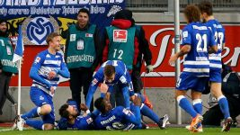Rock-bottom Duisburg down high-flying Sandhausen
