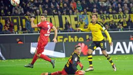 Aubameyang at the double as Dortmund down Stuttgart