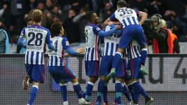 Clinical Hertha too strong for ten-man Leverkusen