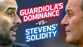Infographic: Guardiola's dominance vs Stevens' solidity