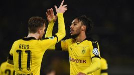 Reus and Aubameyang star as BVB reach DFB Cup semis