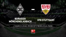 In-form Gladbach and Stuttgart face off at BORUSSIA-PARK