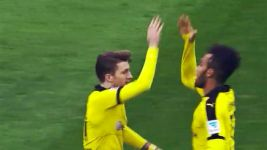 Auba and Reus' secret handshake!