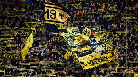 "Dortmund's famous ""Yellow Wall"""