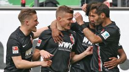 Augsburg's Finnbogason targets safety after Wolfsburg win