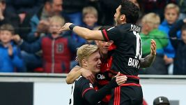 Leverkusen delight in victory over Hertha