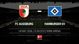 Survival celebrations as Augsburg host Hamburg