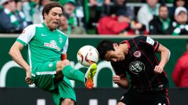 Bremen survive but Frankfurt into play-off after Djilobodji's late winner