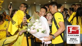 Dortmund touch down in Shanghai
