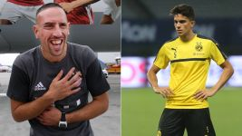 Ribery and Bartra: old and new faces