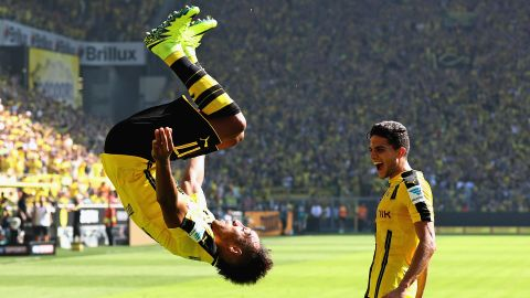 Aubameyang at the double