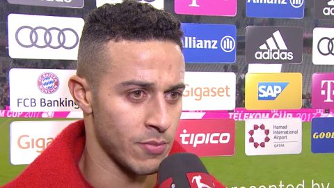 Watch: Thiago on Bayern's victory over Leverkusen