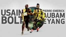 Aubameyang challenges Bolt to race