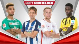 Team of the Hinrunde: left midfielders