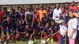 Bundesliga Legends Tour: Okocha at Allies academy